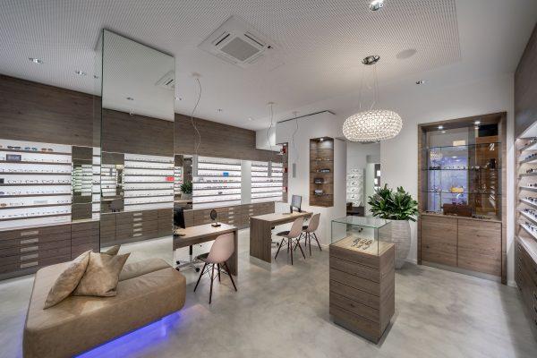 Modernes Ladengeschäft Interior Fotografie von Optiker