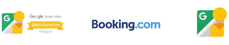 logo google booking.com kooperation fotograf