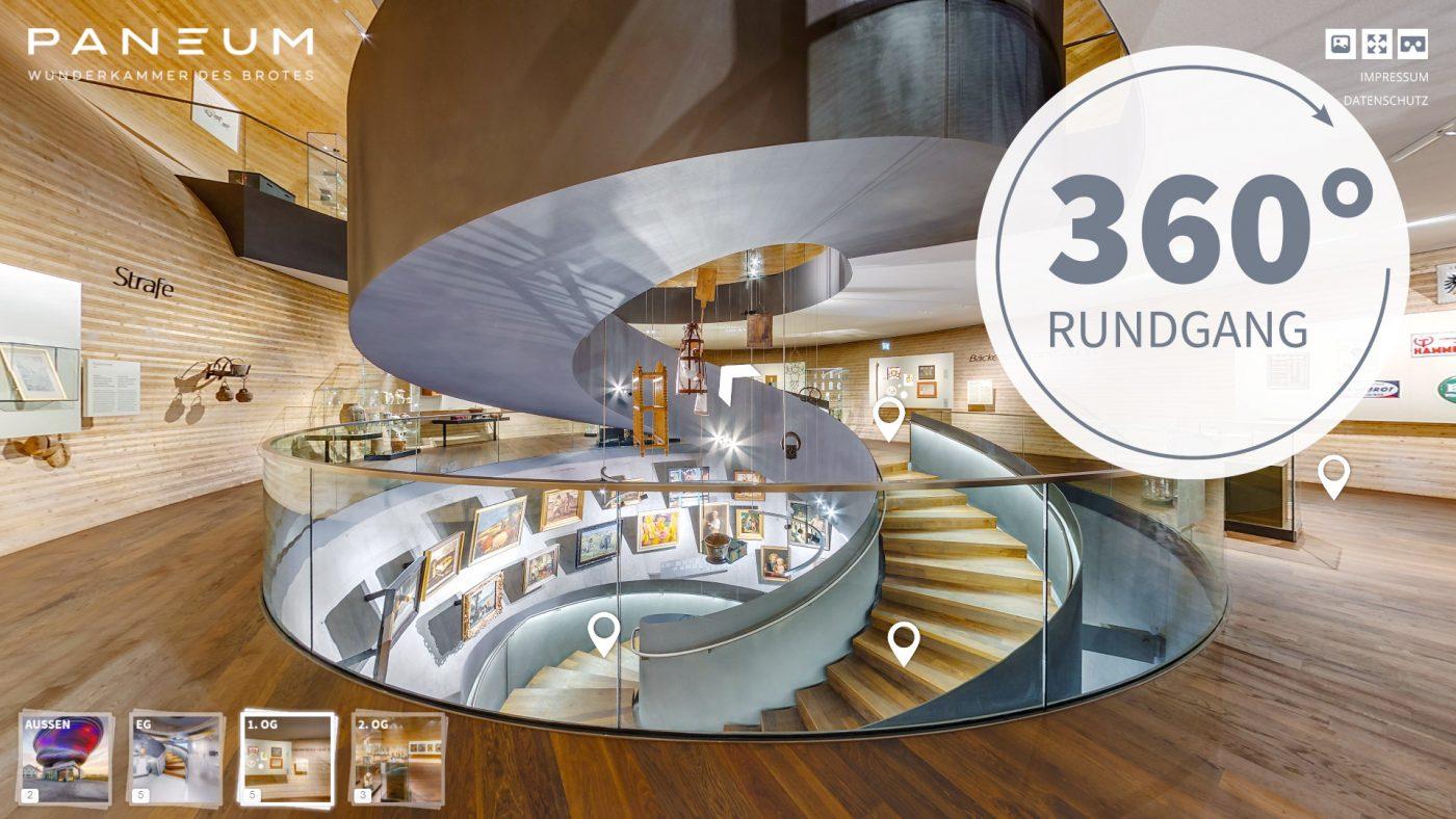 360 grad virtueller rundgang paneum wunderkammer des brotes
