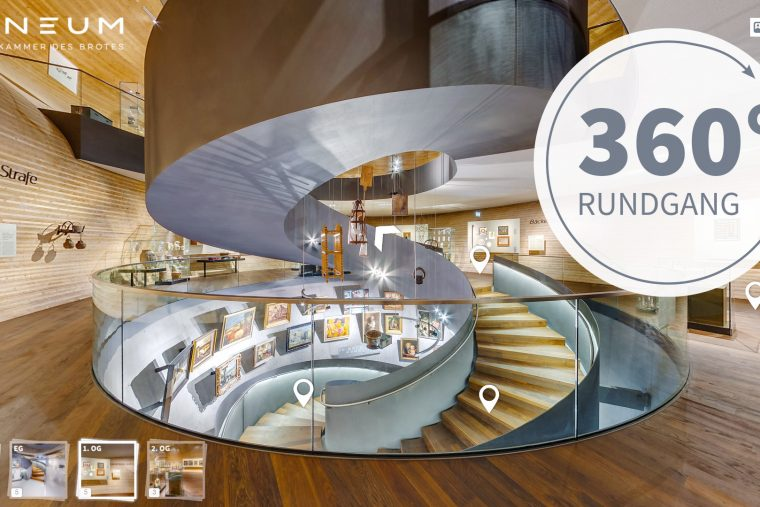 Virtueller 360 Grad Rundgang vom Paneum, die Wunderkammer des Brotes