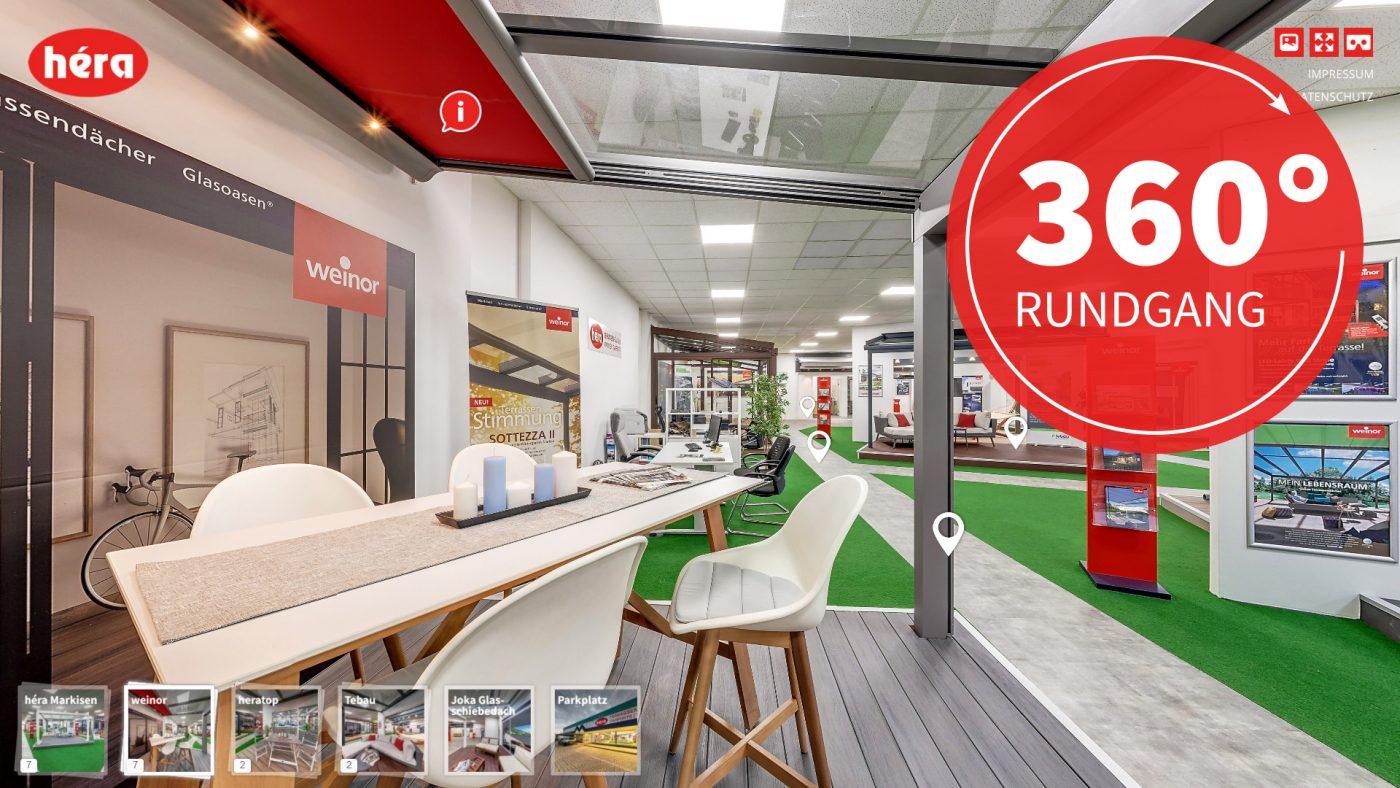 interaktiver 360 Grad Rundgang Héra Markisen
